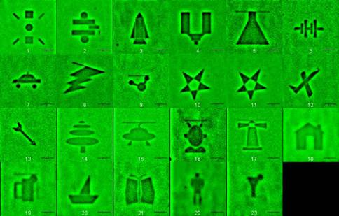 Distinct images as well as bitwise patterns have been written into an all-polymer, co-extruded, multilayer medium using low power, compact lasers.